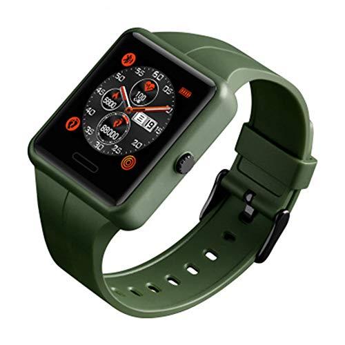 CETLFM Die intelligente Uhr der Männer, Art und Weisesportelektronische Uhr Multifunktions-Bluetooth-Gesundheitsmonitor-wasserdichte Digitaluhr,Grün