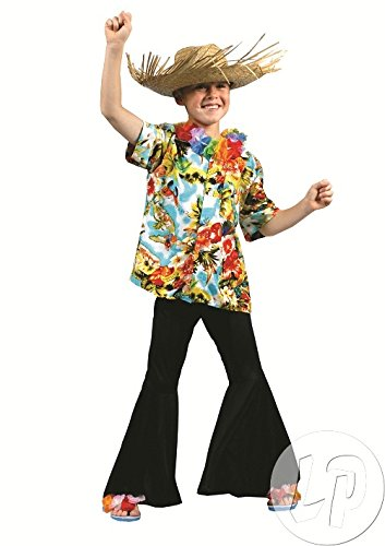 3Stück–Hemd Tahiti Hawaii bunt Kinder Größe 152cm–Qualität coolminiprix® (X Hawaii-hemden 4)