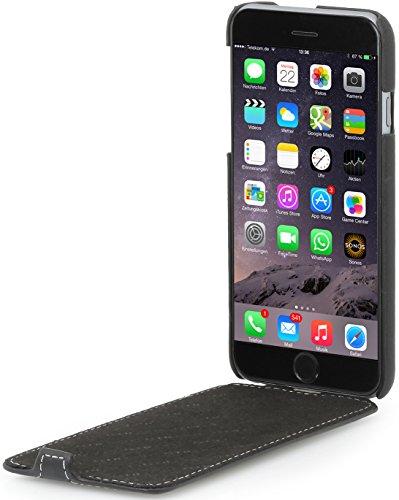 StilGut UltraSlim Case Hülle Leder-Tasche für iPhone 6. Dünnes 360 Grad Flip-Case vertikal klappbar aus Echtleder für das Original iPhone 6 (4,7 Zoll), schwarz Nappa Schwarz- Nappa
