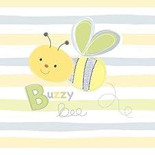 Summer Infant 74104 SwaddleMe Ganzkörper Pucksack Biene Applikation - 100 Prozent Baumwolle