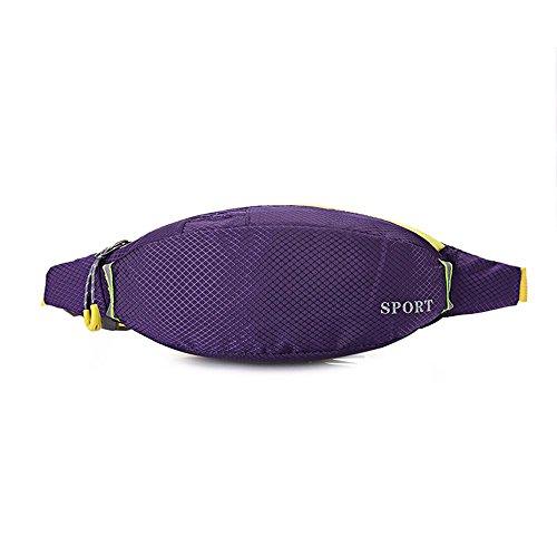 BUSL Frau Wandern Hüfttaschen Sport wasserdichte Outdoor persönliches Telefon Stealth Mini-Tasche läuft deep purple