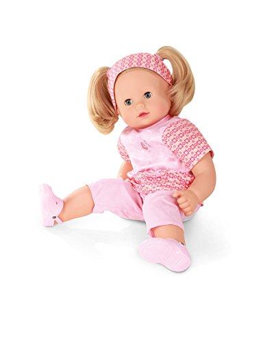 Götz 1427172 Maxy Muffin in Style Puppe - 42 cm große Babypuppe mit blauen Schlafaugen, blonden Haaren und Weichkörper - 8-teiliges Set