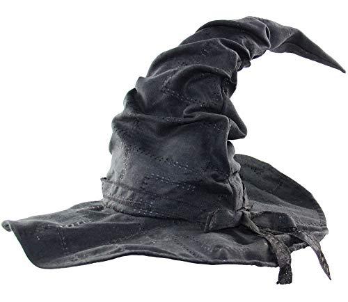 Bad Taste Verformbarer Hexenhut mit Flicken für Karneval Fasching Halloween Walpurgis - für Damen Herren Kinder Mädchen
