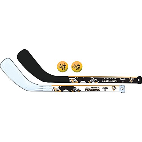 Team Mini-Hockeyschläger-Set, 2-teilig, Unisex-Erwachsene, schwarz, NA ()