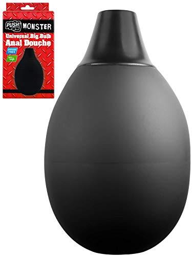 Push Monster – Universal Big Bulb Anal Dusche, Flüssigskeitsblase schwarz