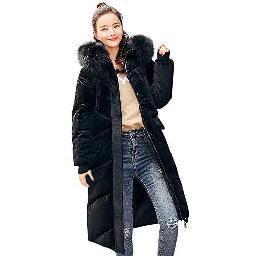 UFACE Damen Oberbekleidung Pelz Kapuzenmantel Lange Baumwolle gefütterte Jacken Taschenmäntel