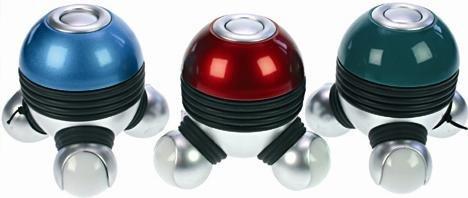 1 (ein) Stück Massagegerät 3 - Punkt - Vibration # Höhe: 9 cm # mit Licht an den drei Enden # Batteriebetrieb: 3 x AAA (Batterien nicht im Lieferumfang enthalten) # Wellness Vibrations-Massage
