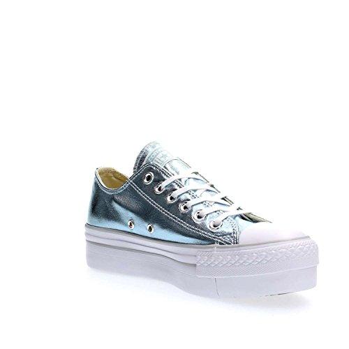 Conversechuck taylor all star ox platform canvas metallic - sneakers basse Ghiaccio