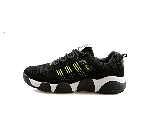 Chaussures chaussures occasionnelles couples chaussures Forrest Gump chaussures de sport pour hommes black and yellow