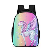 Dofeely Unicorn Pattern School Backpack Laptop Ergonomic Backpack Children Teenagers Women Men Gym Bag Daypack for Outdoor Travelite 32 cm x 18 cm x 42 cm Polyester