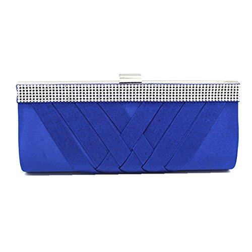 YYW Crystal Clutch Bag, Poschette giorno donna Blue
