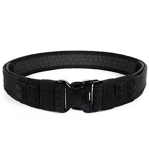 Desconocido Seguridad Ajustable Cinturón Táctico,para Militares,Hombre,Policía,Agentes de Seguridad y Actividades al Aire Libre (Negro)