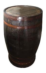 Table de bar haute en tonneau à whisky en chêne rustique