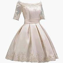 Vestido de Noche de una línea para Mujer Ailin Home (Color : Champán, ...
