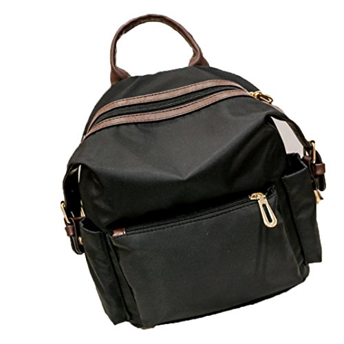 BZLine® Frauen Mädchen Rucksack Mode Schulter zurück Tasche Stil Rucksäcke Schwarz