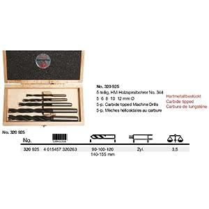 Schlagring – Bohrer-Sätz – 5-teilig, HM-Holzspiralbohrer – Hartmetallbestückt