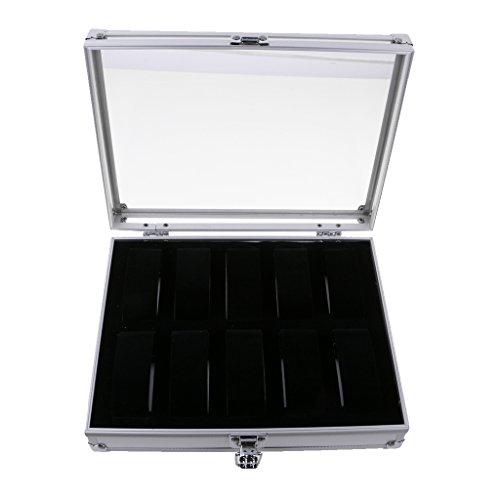 MagiDeal-1x-Uhrenbox-aus-Aluminium-Aufbewahrungsbehlter-fr-5-bis-24-Uhren-Uhrenkasten