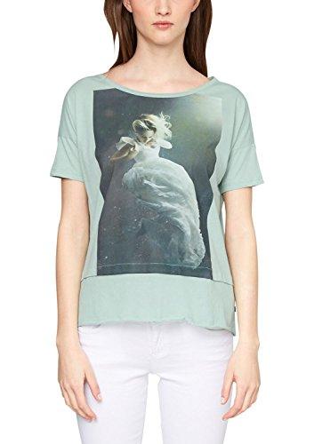 Q/S designed by - s.Oliver s.Oliver Denim Damen T-Shirt 41.504.32.2138, mit Print Türkis (foam placed print 60D0)