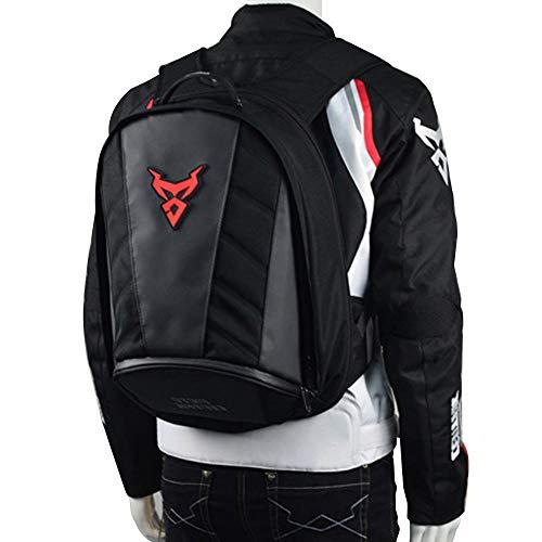 Moto Centric impermeabile grande capacità moto equitazione zaini con petto e vita fibbia Moto casco supporto/borse di riciclaggio casco (Red)