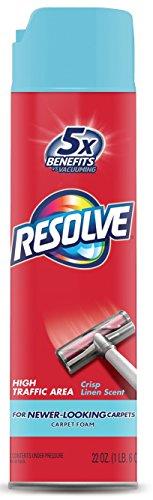Resolve High Traffic Carpet Cleaners, Foam Citrus, 22 Ounce