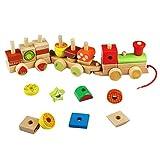 Caratteristiche del prodotto: ❤ Alta qualità I nostri giocattoli da costruzione in legno sono costruiti in materiali, siamo in grado di garantire la qualità per voi. ❤Sviluppare l'intelligenza I set di blocchi di costruzione vengono forniti c...