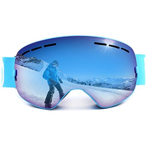 LUHUIYUAN Erwachsene Skibrille Für Männer Frauen mit Sphärische Abnehmbare Linse UV Schutz...