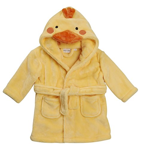 Lora Dora Baby Boys Girls Novelty Dressing Gown Duck 6-12 Months