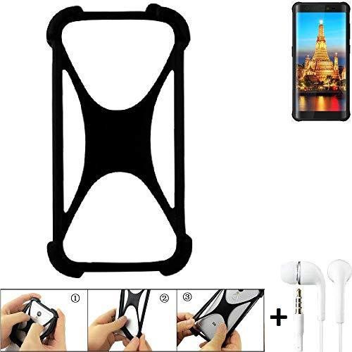 K-S-Trade Handyhülle für Energizer H590S Schutzhülle Bumper Silikon Schutz Hülle Cover Case Silikoncase Silikonbumper TPU Softcase Smartphone, schwarz (1x), Headphones