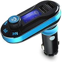 Trasmettitore FM, AGPTEK Bluetooth Lettore MP3 Hands-free Kit caricabatteria da auto per iPhone/iPad, Samsung Galaxy, HTC, Sony, Motorala, Nokia, ecc