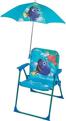 Unbekannt Fun House 712491Dory Klappstuhl mit Sonnenschirm für Kinder blau, Stahl 38x 8x 50cm