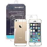 2 Films (1AV+1AR) protection écran et protéction arrière en verre trempé haute transparence et ultra résistant pour iPhone 5 / 5S