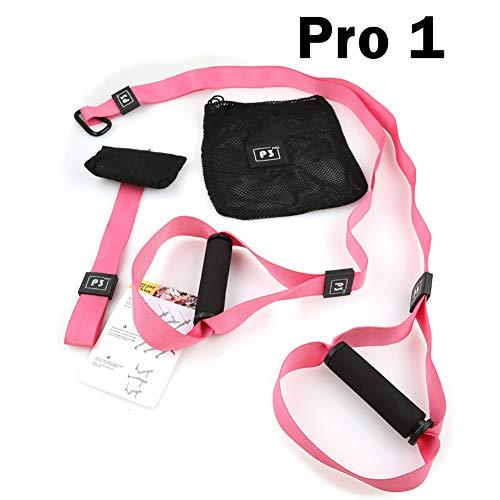 ZLQF Schlingentrainer Suspension Trainer Basic und Door Anchor,Pink,P1