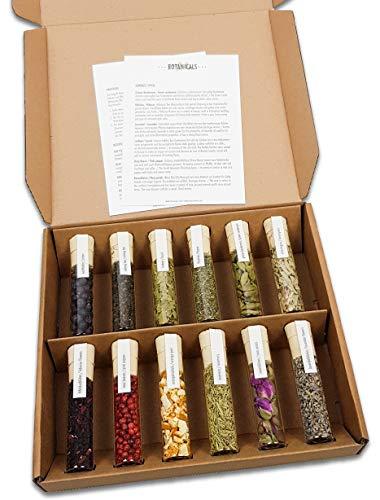 Gin Botanicals | Gewürz Set für Cocktails & Gin Tonic | von DO YOUR GIN® | 12 ausgewählte Aromen in Gewürzgläsern | perfektes Geschenk für Männer