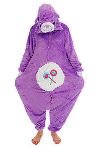 Care Bears onesiee Kigurumi Pyjama Karneval Kostüm Maskenkostüm Kapuzenpulli Schlafanzüge Weihnachtsgeschenk (share bear, L(height 170cm-180cm)) (Care Bears Halloween)