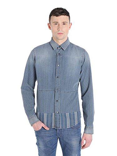 Camicia di jeans diesel de-skirt 0663k (xxs, blu)