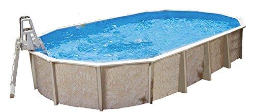 Interline 50000054 oval Pool Diana Durchmesser 8,50m x 4,90m, Tiefe 1,32m, Set ohne Sandfilter