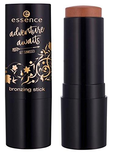 Essence adventure awaits get sunkissed bronzing stick Nr. 02 travel makes me happy Inhalt: 13,6g Bronzing Stift - für einen natürlich gebräunten Teint auch nach dem Sommer. - Bronzing Stick