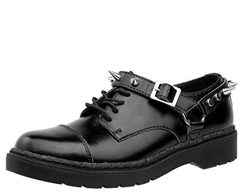 Tuk Femmes Chaussures Hommes Femmes Tuk Cuir Noir Harnais Argyl Derby 00e5b6