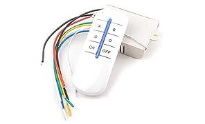 TESCO 4 way remote control switch, wireless RF remote control switch for Light, Fan & home appliances