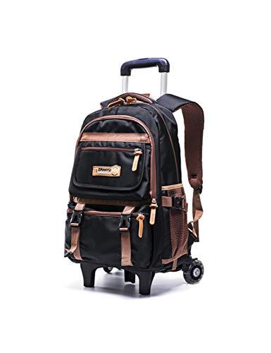 LYARA Abnehmbarer Rucksack mit doppeltem Verwendungszweck, reduzierte Abnutzungsrolle, reduzierte Umhängetasche, geeignet für die Trolley-Tasche von Schülern der Mittelstufe-4