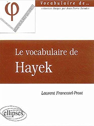 Le vocabulaire de Hayek