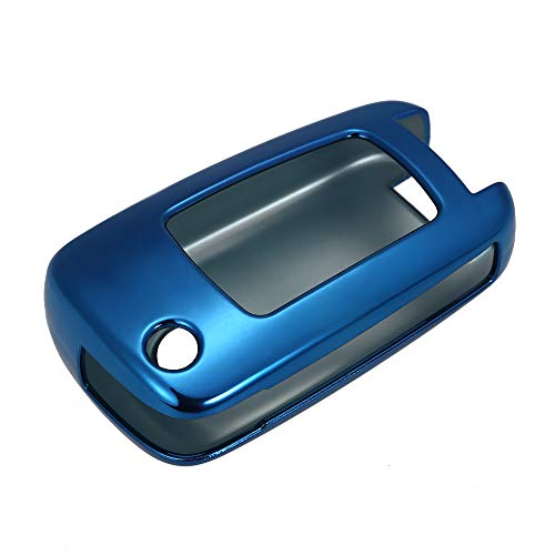 Walmeck Autofernbedienungen Hülle TPU-Material Schlüsselhülle Fit für Chevrolet KFZ Schlüssel Kette