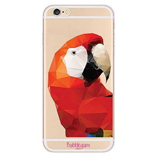 Bubblegum® Coque de protection pour iPhone Motif chat mignon, Gel, Artistic Cat Big, iPhone 6 6s Artistic Parrot Big