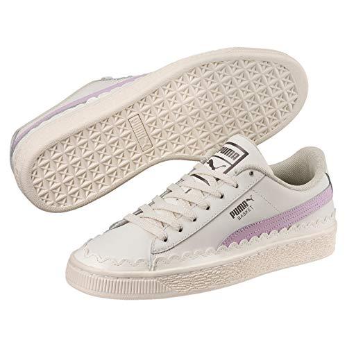 Puma Basket Scallop Damen Sneaker Whisper White-Winsome Orchid 5 Scallop Edge Top