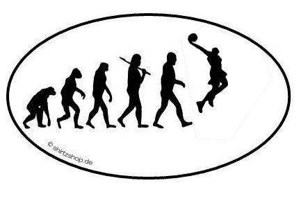 BASKETBALL BASKET BALL DUNKIN EVOLUTION serie 1.0 Aufkleber Autoaufkleber Sticker Vinylaufkleber Decal -