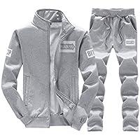 Hombres Casual Conjuntos Deportivos Chándal De 2 Piezas Vertical Cuello Manga Larga Sweatshirt + Pantalón