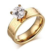Women's ring decorated with crystals
