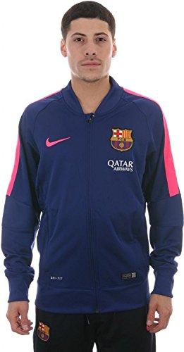 Nike FCB SQUAD SDLN KNIT JKT Herren Fu?ball Shirt 610454-456_L (Sleeve Mock Neck Raglan Herren)