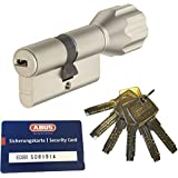 ABUS EC660 ECK660 profielknopcilinder lengte (a/b) Z28/K34 mm (c = 62 mm) met 6 sleutels, met beveiligingskaart