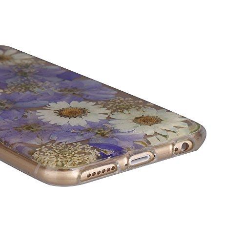 """iPhone 6sPlus Schutzhülle, iPhone 6Plus Soft TPU Handytasche, CLTPY Modisch Durchsichtige Rückschale im Getrocknete Blumenart, [Stoßdämpfung] & [Kratzfeste] Full Body Case für 5.5"""" Apple iPhone 6Plus/ Floral 26"""